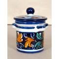 Jar with lid h. 10 cm - Fiore Blu