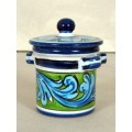 Jar with lid h. 10 cm - Turchese