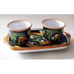 Caffé  per due con vassoio - Ornato Blu