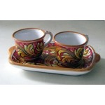 Coffee service for two with tray - Sabrina