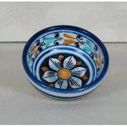 Ciotolina diametro 9 cm. - Fiore Blu