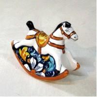 Cavallo a dondolo - Fiore Blu