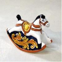 Cavallo a dondolo - Ornato Giallo e blu