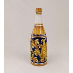 Bottiglia per il Vino - Ornato Giallo e Blu