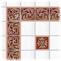 Tile decoration Rubino