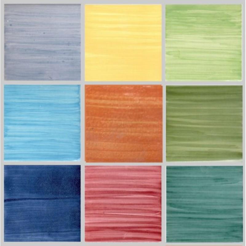 Piastrelle 10x10 Colorate.Piastrella Pennellate Colorate