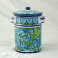 Jar with lid h. 16 cm - Turchese