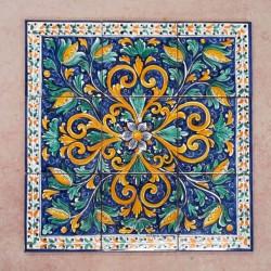 Pannello 60 x 60 cm  - Fiore Blu
