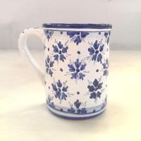 Bicchiere con manico - Fiorellini Blu