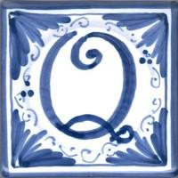 Mattonella lettera Q