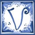 Tile letter V