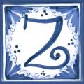 Tile letter Z