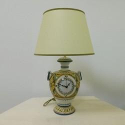 Lume con orologio - Decoro Settecentesco