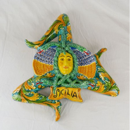 Trinacria  35 x 35 cm - Ornato Verde