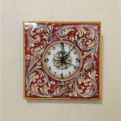 Orologio murale  20 x 20 cm - Corallo