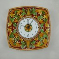 Square Wall clock with curved sides - Ornato bordeaux