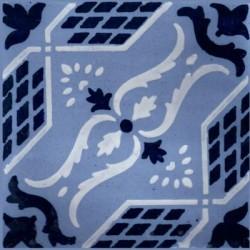 Piastrella 20 x 20 cm -  Decoro  Turchino