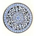 Wall plate diameter 50 cm -   Barocco Nero