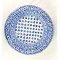 Piatto murale Onda diametro 50 cm -   Fiorellini Blu