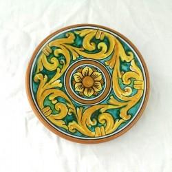 Piattino murale diametro 12 cm - Cuore Verde