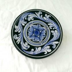 Piattino murale diametro 12 cm - Barocco Nero