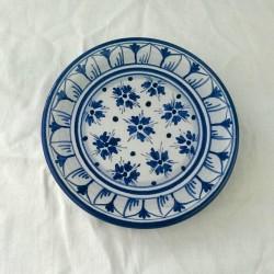 Piattino murale diametro 12 cm - Fiorellini Blu