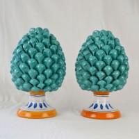 """Pigne h. 30 cm """" Coppia""""  - Verde Tiffany"""