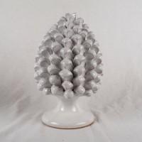 Pigna h. 25 cm - Bianco