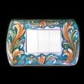 Decorated cover switches - Ornato Fondo Verde