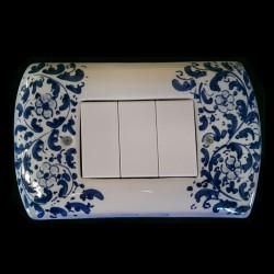 Copri interruttori decorato - Seicento Blu