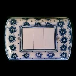 Copri interruttori decorato - Fiorellini Blu