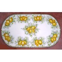 Tavolo Ovale in Pietra Lavica 160 x 80 cm - Limoni