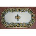 Oval  Lava stone Table 180 x 90 cm - Ornato Blu
