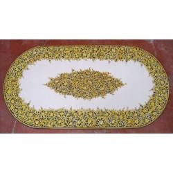 Tavolo Ovale in Pietra Lavica 180 x 90 cm - Seta