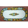 Oval  Lava stone Table 200 x 100 cm - Frutta fondo Blu