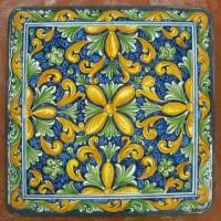 Tavolo quadrato in pietra lavica 80x80 cm. - Simona Blu