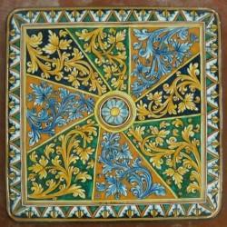 Tavolo quadrato in pietra lavica 100x100 cm. - Intrecciato