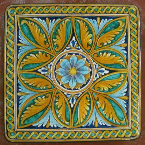 Tavolo quadrato in pietra lavica 90x90 cm. - Ovali