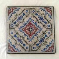 Tavolo quadrato in pietra lavica 90x90 cm. - New classic