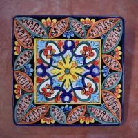 Tavolo quadrato in pietra lavica 70x70 cm. - Etnico 01