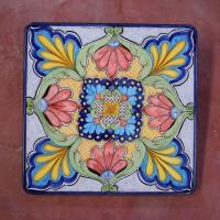 Tavolo quadrato in pietra lavica 70x70 cm. - Etnico 02