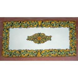 Tavolo Rettangolare in Pietra Lavica 200 x 100 cm - Ornato Blu