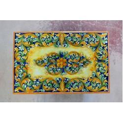 Tavolo Rettangolare in Pietra Lavica 160 x 80 cm - Ornato Blu