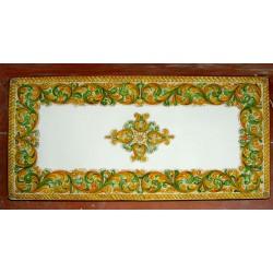 Tavolo Rettangolare in Pietra Lavica 200 x 100 cm - Floreale