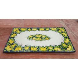 Tavolo Rettangolare in Pietra Lavica 180 x 90 cm - Limoni e Foglie