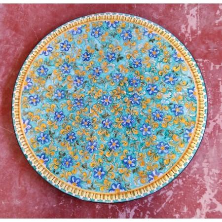 Tavolo Tondo in Pietra Lavica diametro 150 cm - Floreale Verde