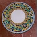 Round  Lava stone Table diameter 100 cm -  Ornato settecentesco