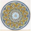 Tavolo Tondo in Pietra Lavica diametro 150 cm - Rosone con Ovali