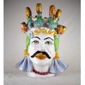 Ceramic Head Man h. 45  cm. - Fico d'India