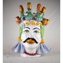 Testa Uomo h. 45 cm. - Fico d'India